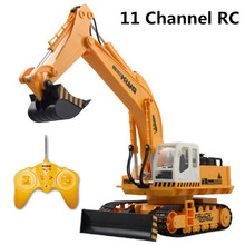 11 channel rc excavator,Advanced remote control vehicle,Charging set, electric engineering vehicles,Most gift, free shipping(China (Mainland))