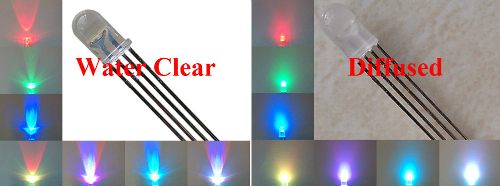 Гаджет  Free shipping 100pcs/lot LED 5mm RGB Common Anode/Common Cathode 4 Pins Tri-Color Emitting Diodes f5 RGB Water Clear/Diffused None Электронные компоненты и материалы