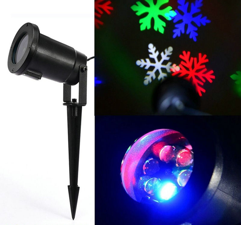 Outdoor Christmas Laser Light Projector Snow Flakes