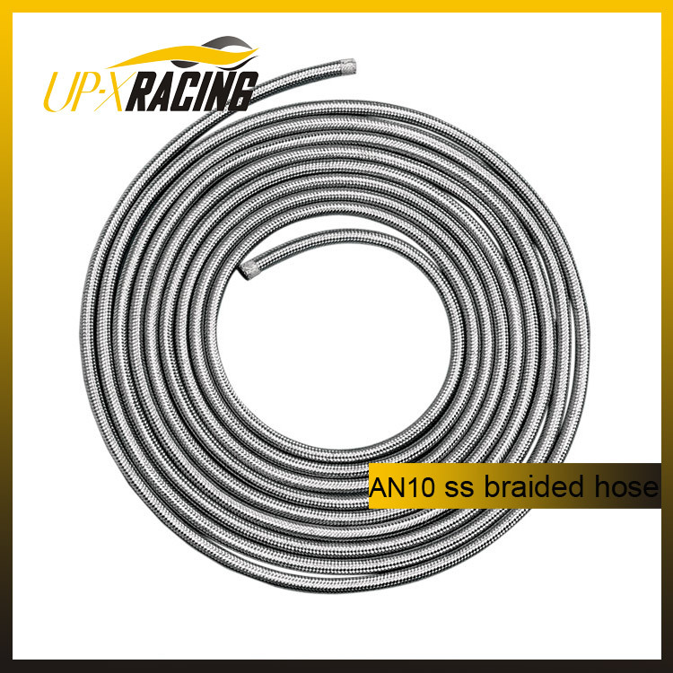 AN10 auto stainless steel braided hoses fuel hose car stainless steel knitted hose braided hose(China (Mainland))