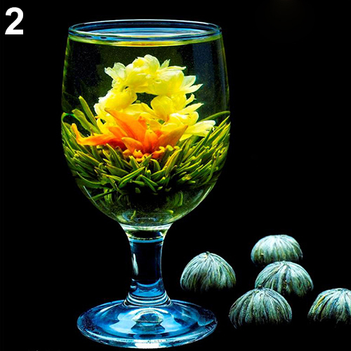 NEW4 Balls Different  Blooming Flowers Healthy Green Tea  Wedding Gift<br><br>Aliexpress