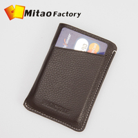 2014 Fashion New Men&Women's Card places Genuine Leather Card Holder Bank Credit Business Card Bag W/ Big Capacity,Gifts