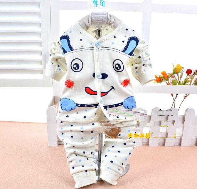 Free shipping Spring and autumn Babys boy and girl Sleepwear Cotton Children s Clothes Baby Sets