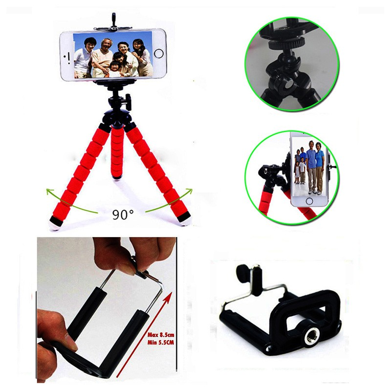 Phone Holder Flexible Octopus Tripod Bracket Stand+ Mount Monopod Adjustable Accessories for xiaomi redmi note3 xiaomi note3 pro