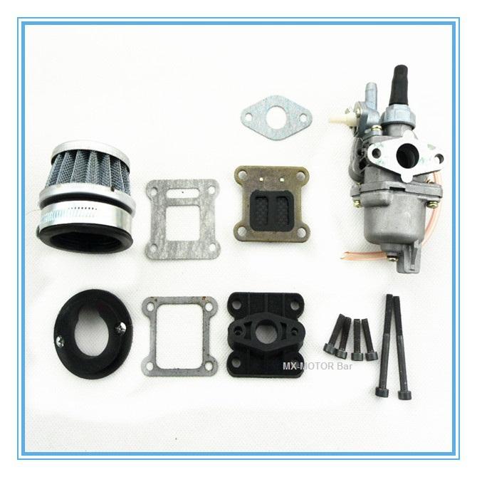 HP fibre carbon reed and carburetor kit for 2 stroke 47cc 49cc engine Mini Pocket Bike