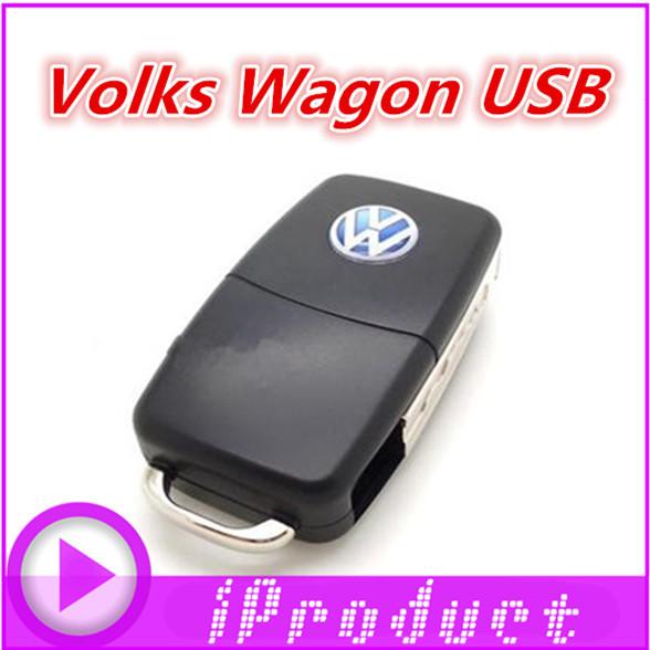 VOLKS WAGON car key style usb flash drive 1/2/4/8/16/32GB VW pen drive creative gift Audi memory pendrives flash card stick(China (Mainland))