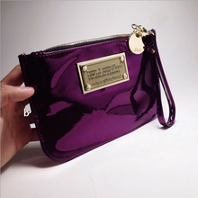 2016 Hot Thai famous designer brands Coin Purse fashion candy color bag women envelope bag small day clutches laser PVC package(China (Mainland))