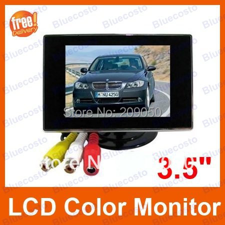 """3.5"""" LCD Color Mini Monitor For Car Rearview Monitor DVD VCR with PAL/NTSC systems(China (Mainland))"""