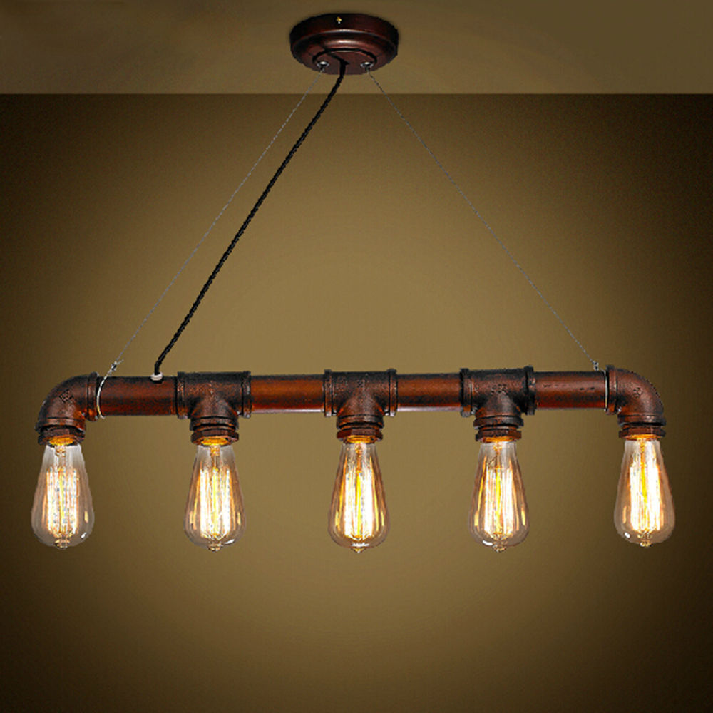 Vintage Edison Pendant Light Retro Water Pipe Pendant Lamp