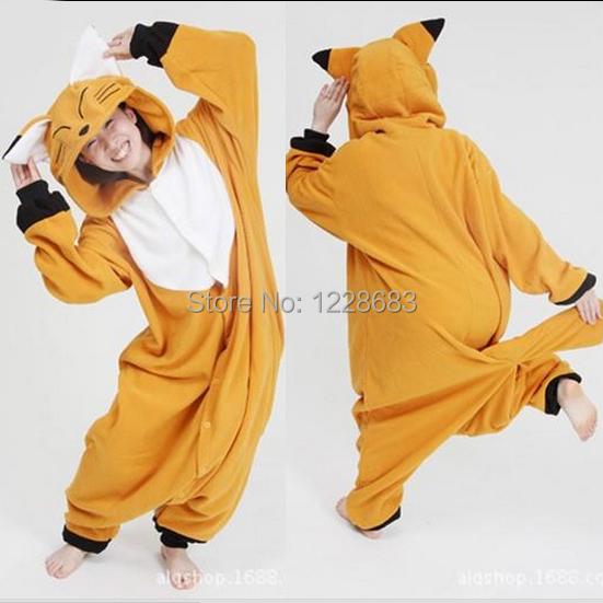 Зима унисекс животное Onesie пижамы косплей-костюмы животное пижамы взрослые  пижама лиса Onesie b04ac4c8c8733