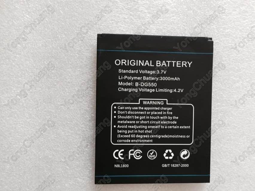 DOOGEE DG550 Battery Original New Large Capacity Battery B DG550 3000MAH Li polymer Battery For DOOGEE