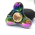 Stres Carki Spring Toy Hand Spinner Red Copper Metal Tri Fidget Spinner Anti Stress New Year