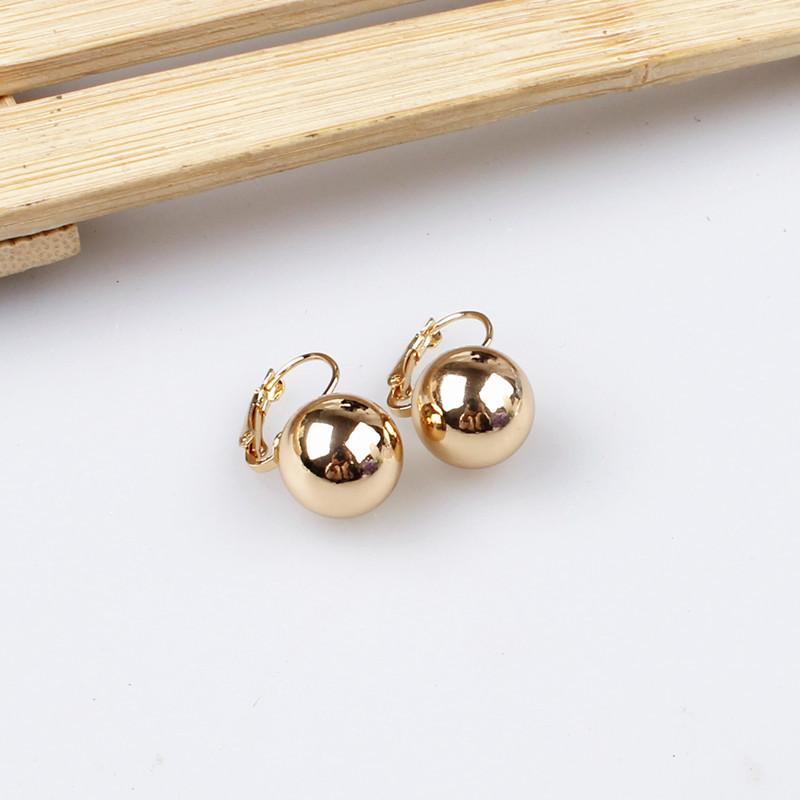 סגנון חדש המסיבה מתנה 18k מצופה זהב הנוצץ זהב צדף עגילי פנינת תכשיטים לנשים