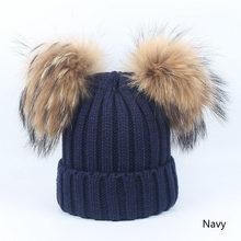 REAKIDS เด็กถักหมวกผ้าพันคอผ้าพันคอเด็กสาว Universal WARM Comfort จริงๆขนสัตว์ Pom-POM เด็กหมวกฤดูใบไม้ร่วงฤดูหนา...(China)
