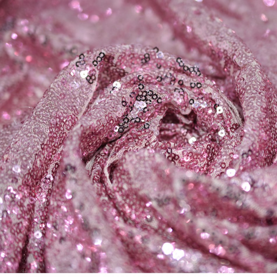 pink gold sequin fabric-10