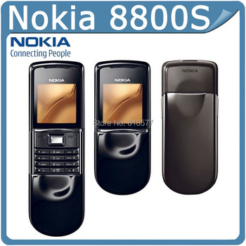 Fast Freeshipping to Russia Unlocked Original 8800 Sirocco Gold 128MB Nokia 8800s Mobile Phone Russian keyboard in Stock