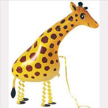 Children love 39*91cm Giraffe Balloon Walking Pet Balloon Animals Shape Foil Balloon for Birthday Party(China (Mainland))