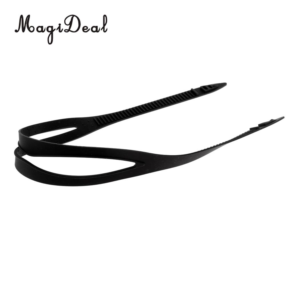 MagiDeal Durable Flexible Soft Silicone Strap Protective Head Band Universal Fits Most Swimming Goggles Swim Glasses Eyewear
