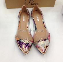2016 Spring Women Metal Pointed Toe PVC Patchwork Casual Shoes Sandalia Feminina Ballerina Flats(China (Mainland))