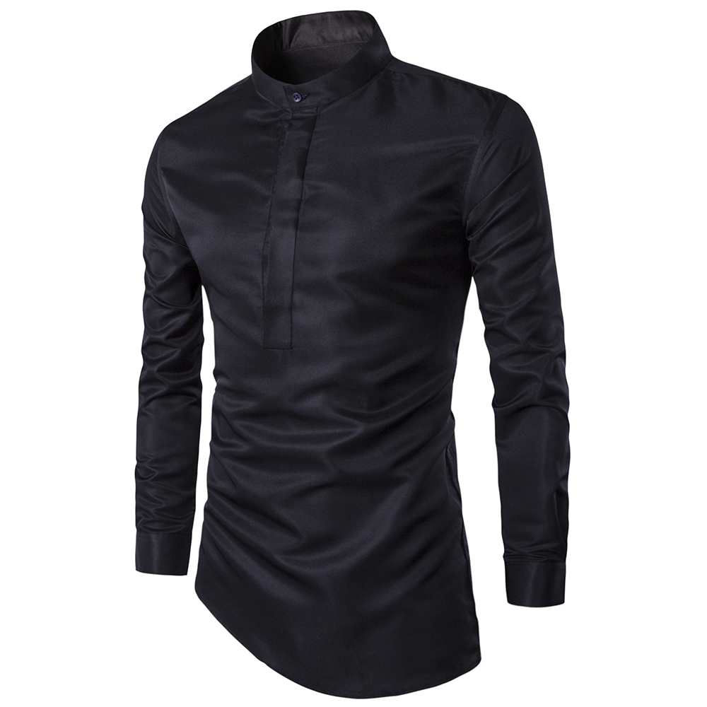 Personalized fashion high quality men's shirts Business Casual Slim Dress shirt men Clothes camisa masculina black & white(China (Mainland))