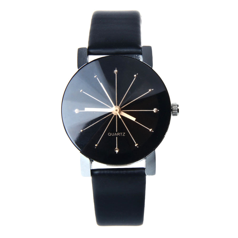 2016 Relogio Feminino Women Analog Quartz Dial Hour Digital Watch Leather Wristwatch Reloj Mujer Round Case Time Clock Lady Gift(China (Mainland))