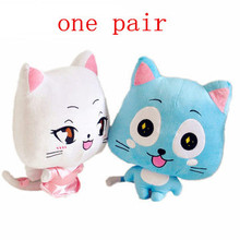 """New Arrival! 2pcs/Set Hot Anime Figure 12"""" Fairy Tail Happy & Lulu Cat Stuffed Animals Fairy Tail Dolls Cute Toy Gifts"""
