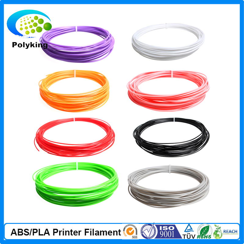 High quality 5pcs 5colors 250g ABS 3d printer 1.75mm Filament Makerbot Prusa Mendel Reprap, free ship, free tracking number(China (Mainland))