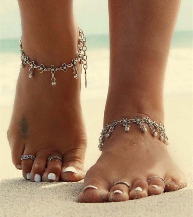 Vintage Bracelet Foot Jewelry Pulseras Retro Anklet For Women Girl Ankle Leg Chain Charm Bracelet Fashion