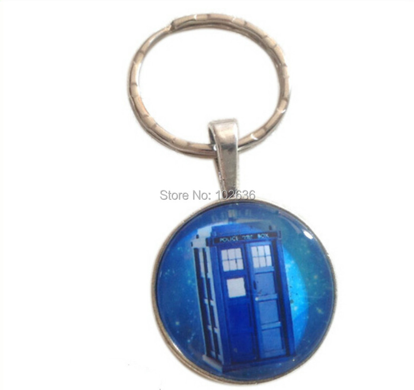 2014 New Fashion DOCTOR WHO Keyrings Tardis Retro Keychain Wholesale 100pcs/lot Free Shipping<br><br>Aliexpress