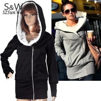 2pcs.lot 2015 Korea ladies Hoodie Coat Jacket Sweatshirts Warm Outerwear hooded Zip Cotton + Polyester Wholesale 34