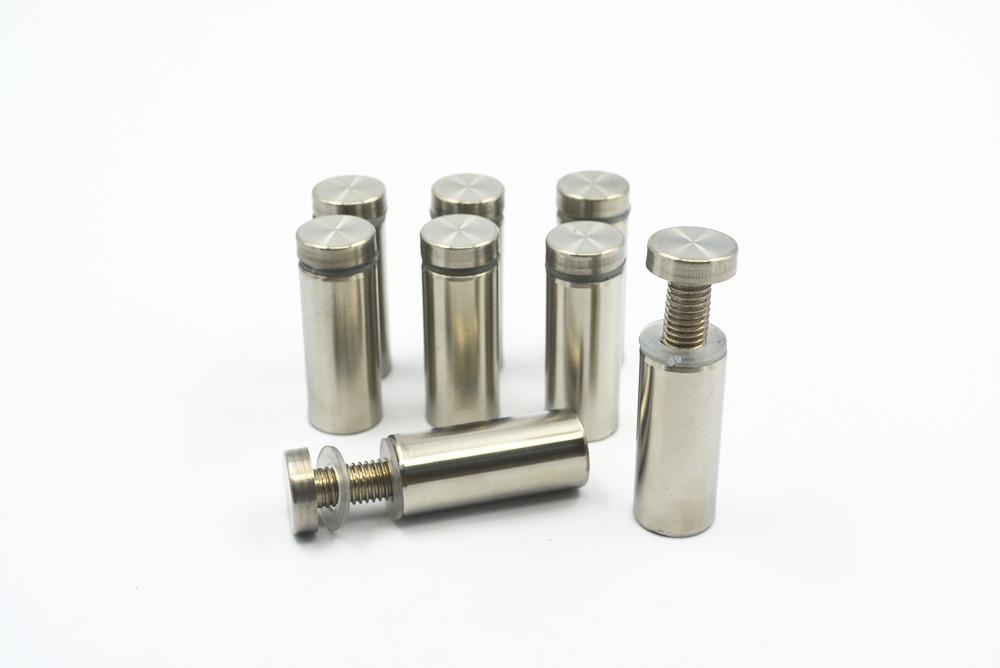 8pcs Stainless Steel Advertising Nail Screws 19mm Diameter 50mm Length Silver Tone(China (Mainland))