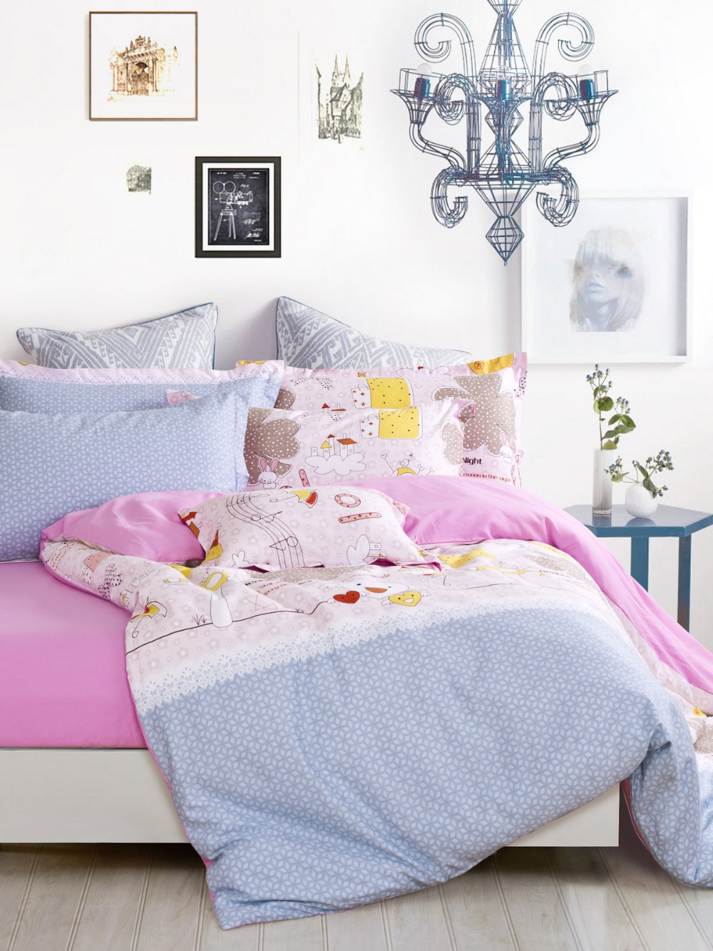 housse couette musique. Black Bedroom Furniture Sets. Home Design Ideas