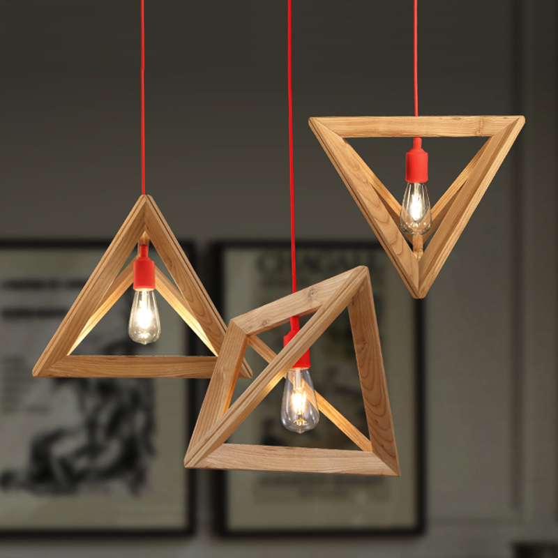 Фотография Morden wooden Suspension Lamp living room/ Bedroom Study droplight Northern Europe/IKEA Parlor Pendant Light for Home decoration