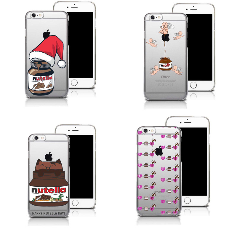 Chocolate Nutella Heart and Dream Catcher Pattern Mobile Phone Case For iphone SE 5 5S 6 6S 6SPlus Clear Cover(China (Mainland))