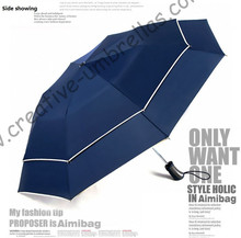 112 diameter visible double layer two fold auto open golf umbrellas hex-angular 70T steel shaft,double bridge fiberglass frame(China (Mainland))