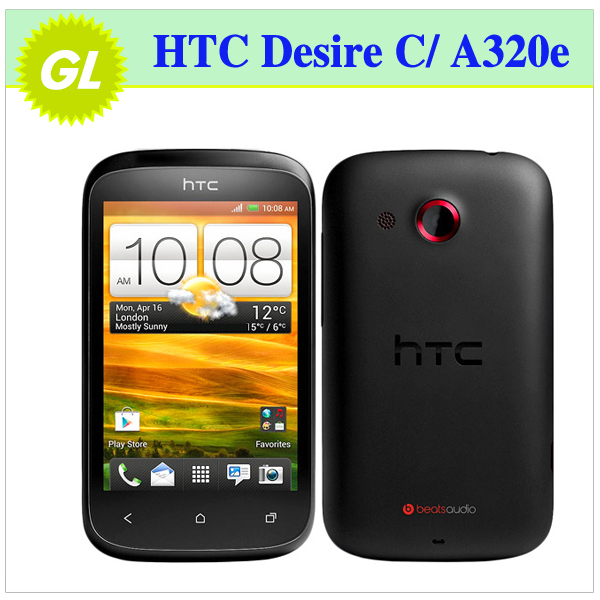 Original HTC Desire C/ A320e Android GPS WIFI 3.5''TouchScreen 5MP camera Unlocked Cell Phone(China (Mainland))
