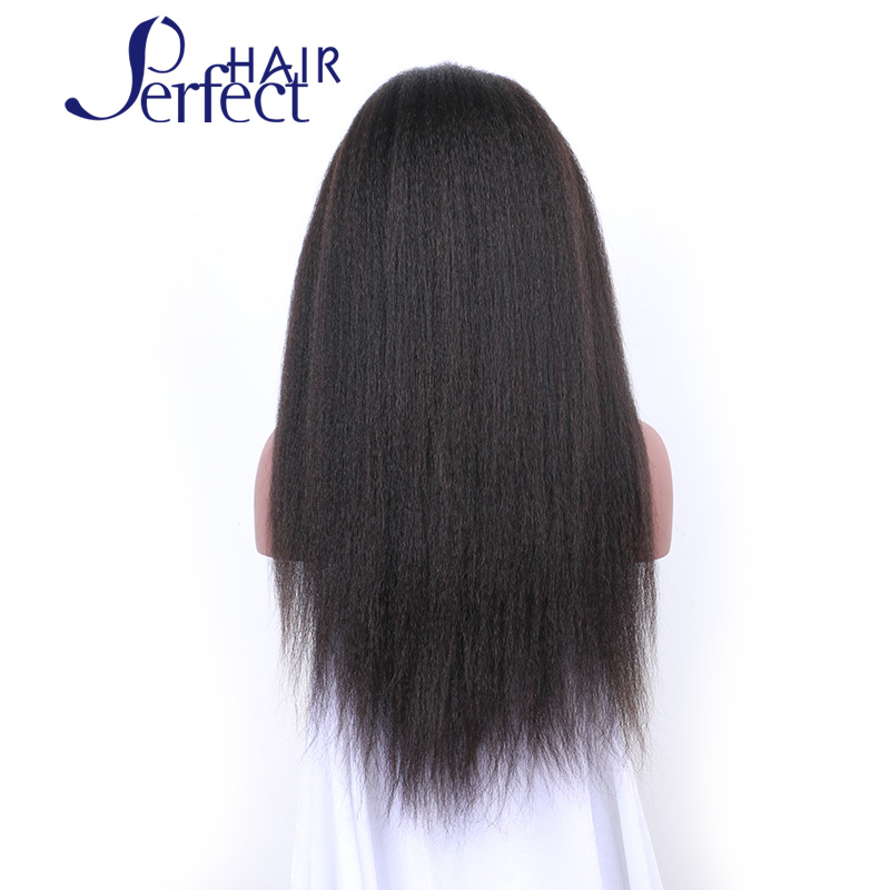 Top 10A Yaki African American Full Lace Human Hair Wigs Best Glueless Brazilian Virgin Kinky Straight Lace Front Wigs Remy Hair