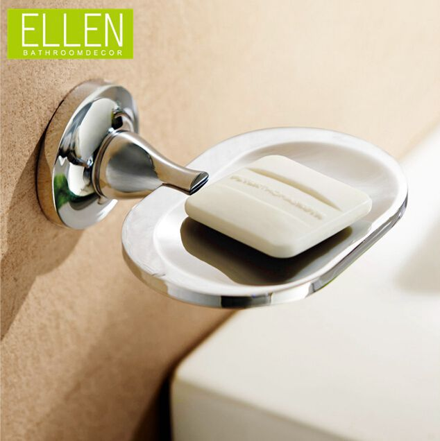 Bathroom soap dish wall mounted soap holder chrome finish soap base in the bathroom(China (Mainland))