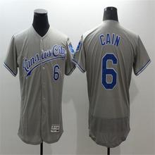 Mens 16 Bo Jackson 4 Alex Gordon 5 George Brett Jersey Stitched Gray blue white Throwback Jerseys(China (Mainland))