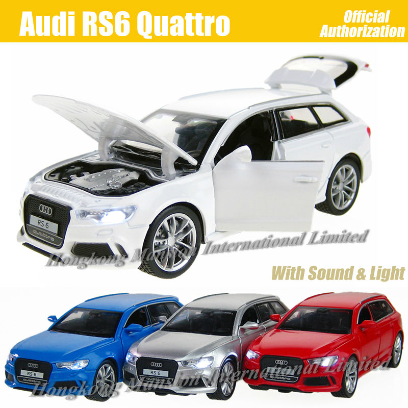 1:32 Scale Diecast Alloy Metal Luxury SUV Car Model For Audi RS6 Quattro Collection Model Pull Back Toys Car With Sound&Light(China (Mainland))
