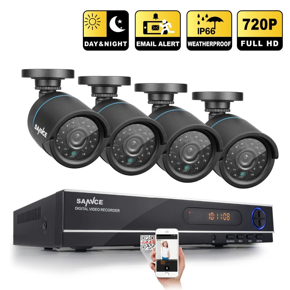 SANNCE HD 1080N 720P 8CH CCTV System Video Recorder DVR 4PCS 1200TVL 1.0MP Surveillance Camera IR CCTV kits for Home Security(China (Mainland))