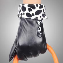 Buy Fashion Women Winter Gloves Mitts Luxury Brand Screen Fur Leather Gloves Women's Mittens Gloves Keep Warm Sport Glove #JO for $3.56 in AliExpress store