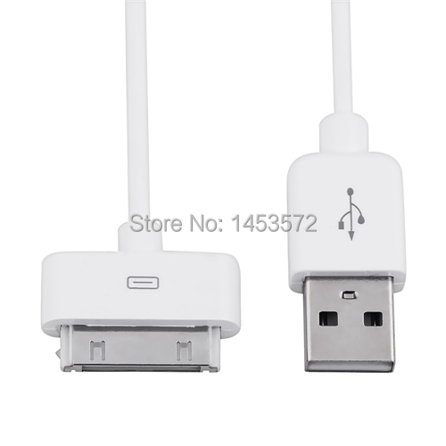 White USB Data Cable Cord For Tablet Apple iPad 1st 2nd Generation Wifi/3G/16/32/64 GB(China (Mainland))