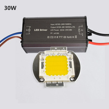 Di alta qualità 10 w 20 w 30 w 50 w 100 w cob chip alta potenza  Per led flood proiettore della luce + ha condotto il driver impermeabile ip65 di trasporto  Libero(China (Mainland))