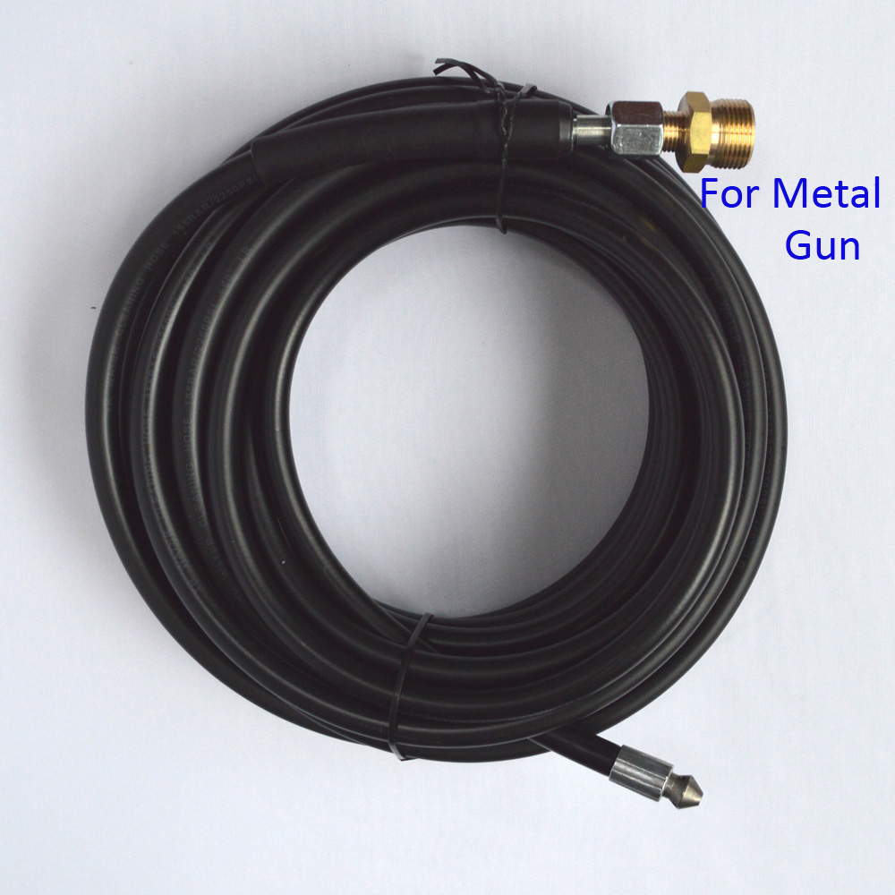 Compatible 10m x 155bar Sewer Drain Water Cleaning Hose for Metal Gun of Car Washer(China (Mainland))