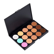 New Professional 15 Color Make Up Cream Camouflage Concealer Palette 98% Area Free Shipping K5BO(China (Mainland))