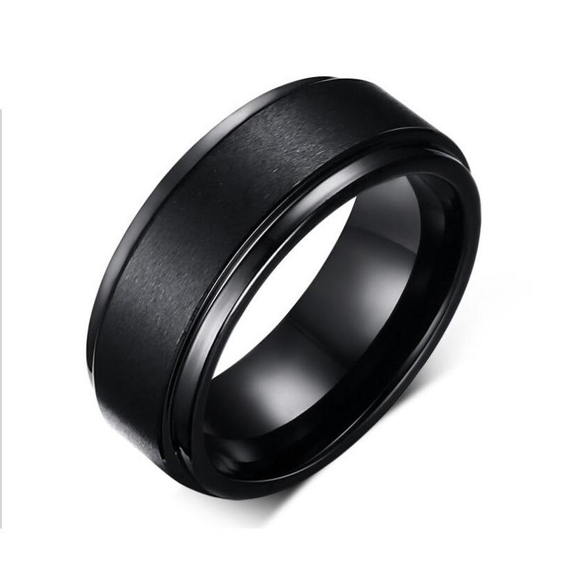 Fashion Simple Design Black Men Tungsten Wedding Rings Jewelry Decent Tungsten Carbide Rings In