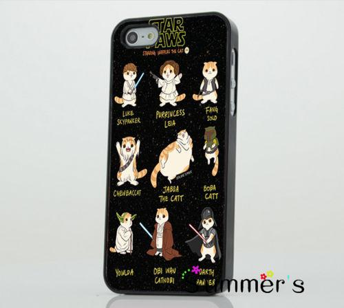 Stars Wars Paws Cat Funny Joke cellphone case cover for iphone 4s 5s 5c 6s plus Samsung Galaxy S3/4/5/6/edge+ Note2/3/4/5(China (Mainland))