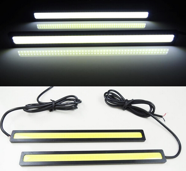 Car styling 2pcs 17cm 20W COB LED Lights DRL Daytime Running Light car lights For Universal Car 100% Waterproof Fog Parking(China (Mainland))