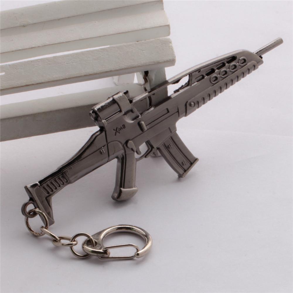 online games CrossFire CF M8 weapon arms model alloy Men Keychain Key Chain Ring Bag Charm Mens Fashion Jewelry Llaveros Llavero(China (Mainland))